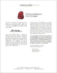 Action Backpacks List