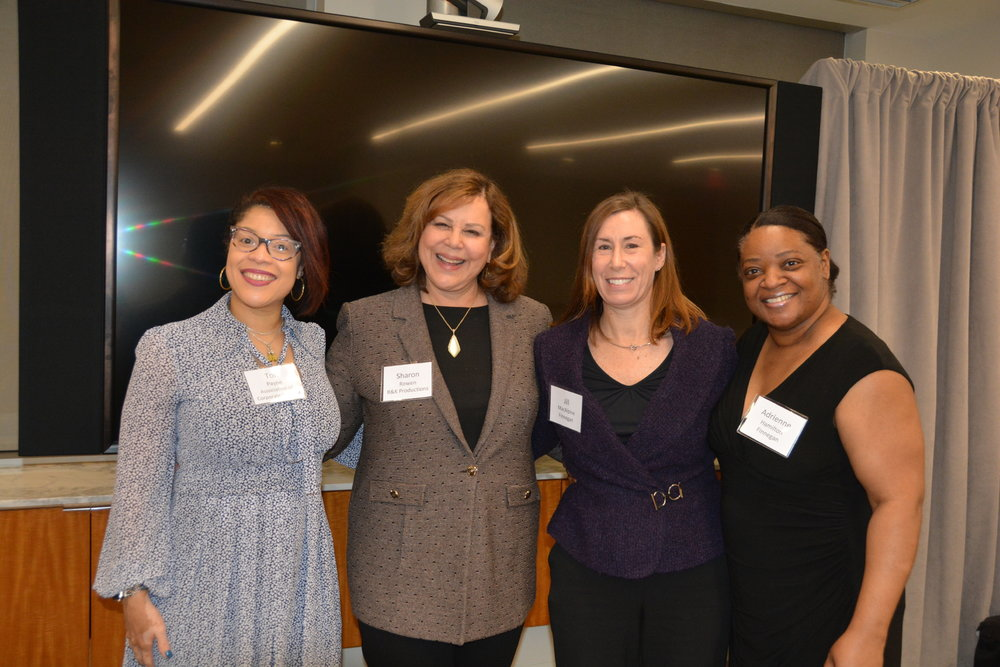Sharon is pictured with Tori Payne, Jill McAlpine, and Adrienne Hamilton.