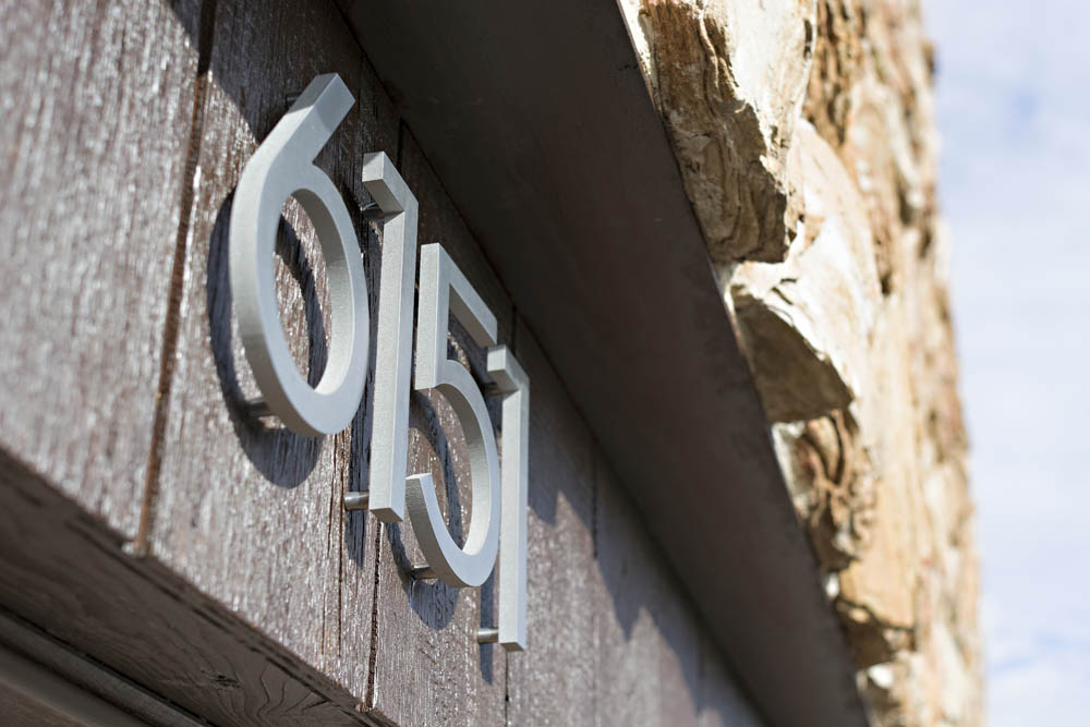 PrideauxDesign - Modern Home Landscape Design - house numbers - address
