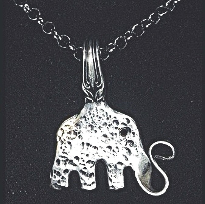 The lovely elephant pendant necklace handcrafted with love.