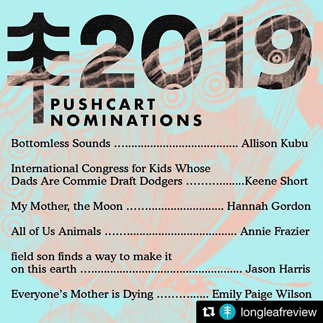"Can't thank the Longleaf Review team enough for the love they've shown ""All of Us Animals""! Congrats to all the nominees! . . .  #Repost @longleafreview with @get_repost ・・・ Our 2019 Pushcart, 2019 Best Small Fictions, and 2018 Best Microfiction Nominations are here! Read their work at the link in the bio, and best of luck everyone! ✨🌟 .. . . #writer #writersofinstagram #bestofthenet #writerscommunity #writersofig #poetry #poetsofinstagram #poet #poetrycommunity #flashfiction #shortfiction #cnf #creativenonfiction #flashcnf #create #onlinejournal #litmag #litMagLove #longleafreview #writersnetwork #writingcommunity #writing #pushcartprize #bestsmallfictions #bestmicrofictions"