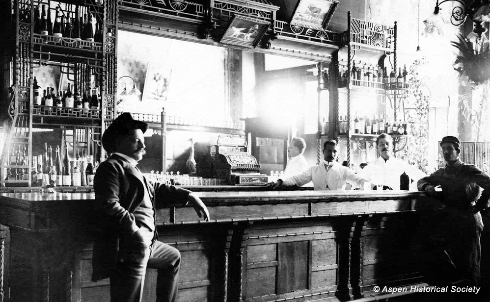 J Bar, circa 1890' … Looks pretty much the same today.