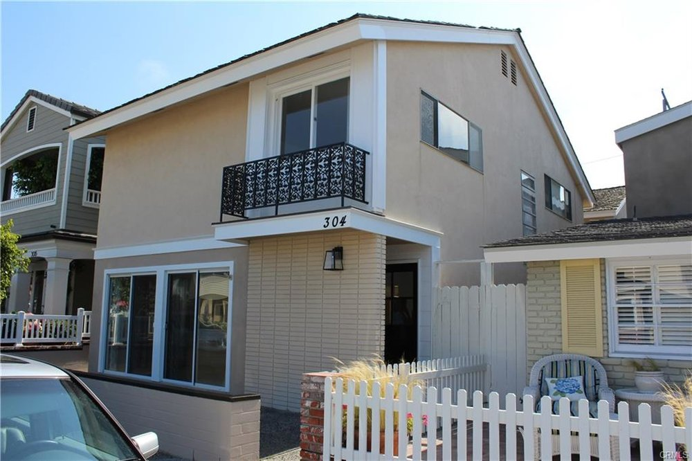 304 Coral Ave, Newport Beach   $2,300,000  SFR   3 Beds   3 Baths   2,528 sqft   2,550 sqft lot   Built in 1964   $909.81/sqft