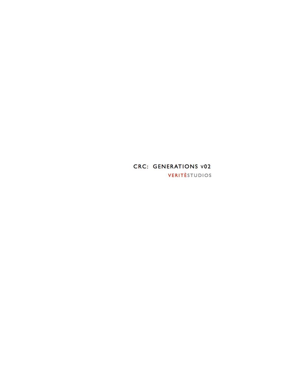 CRC: Generations Script