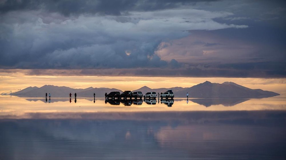 Sunset - Uyuni Salt Flat, Bolivia