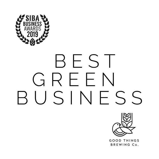 WE WON // WOW @societyofindependentbrewers THANK YOU for an incredible event. WINNER: Brewery Business of the Year  WINNER: BEST Green Business Highly Commended: Best Concept Design  We met some amazing and inspirational people and we are over the moon with our awards. Now.... back to it 👍 . . . . . . . . . #goodthings #goodthingsbrewing #sustainablebeer #craftbeer #beerlover #craftbeerlife #craftbeernotcrapbeer #sustainability #sustainablebrewery #sustainabledesign #sustainableliving #sustainable #ecofriendly #beerx2019 #🍺 #reuse #spentgrain #recycle #savetheplanet #spentgrainflour #savewater #circulareconomy #sustainablebrewing #sustainablebaking  #beerx #sustainablecraftbeer #ipa #paleale #responsiblebrand