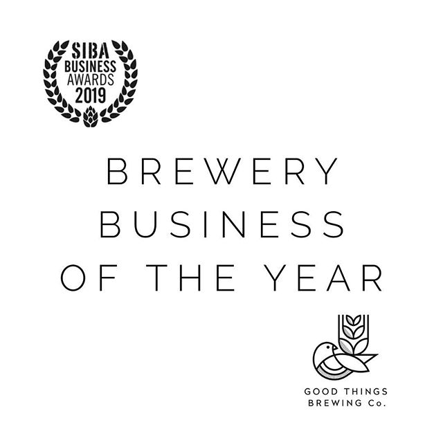 WE WON // WOW @societyofindependentbrewers THANK YOU for an incredible event. WINNER: Brewery Business of the Year  WINNER: BEST Green Business Highly Commended: Best Concept Design  We met some amazing and inspirational people and we are over the moon with our awards. Now.... back to it with our dizzy, cloud 9 heads 👍 . . . . . . . . . #goodthings #goodthingsbrewing #sustainablebeer #craftbeer #beerlover #craftbeerlife #craftbeernotcrapbeer #sustainability #sustainablebrewery #sustainabledesign #sustainableliving #sustainable #ecofriendly #beerx2019 #🍺 #reuse #spentgrain #recycle #savetheplanet #spentgrainflour #savewater #circulareconomy #sustainablebrewing #sustainablebaking  #beerx #sustainablecraftbeer #ipa #paleale #responsiblebrand