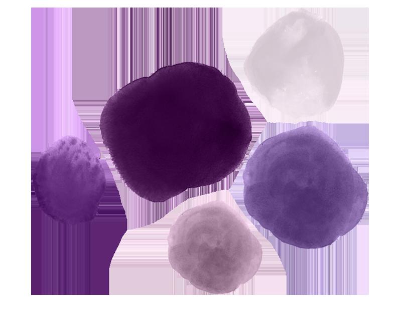 - Lavender, Lilac, Mauve, Plum, Violet, Amethyst, Aubergine, Magenta, Thistle, Wine, Orchid, Heliotrope