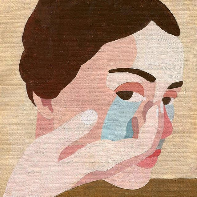 """Let your tears come. Let them water your soul."" -Eileen Mayhew 🎨: @ineslongevial"