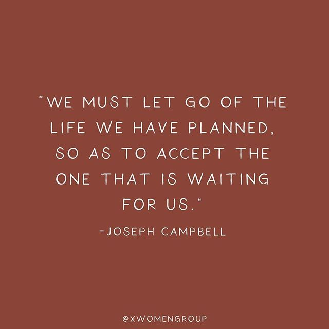 "trying something new...for the next couple of writing posts i will be sharing a series of #JosephCampbell wisdom...here is one of my favorites. sometimes I feel myself caught up in all my ""plans"" and need this reminder to just be present and allow *life* to happen. ✨"