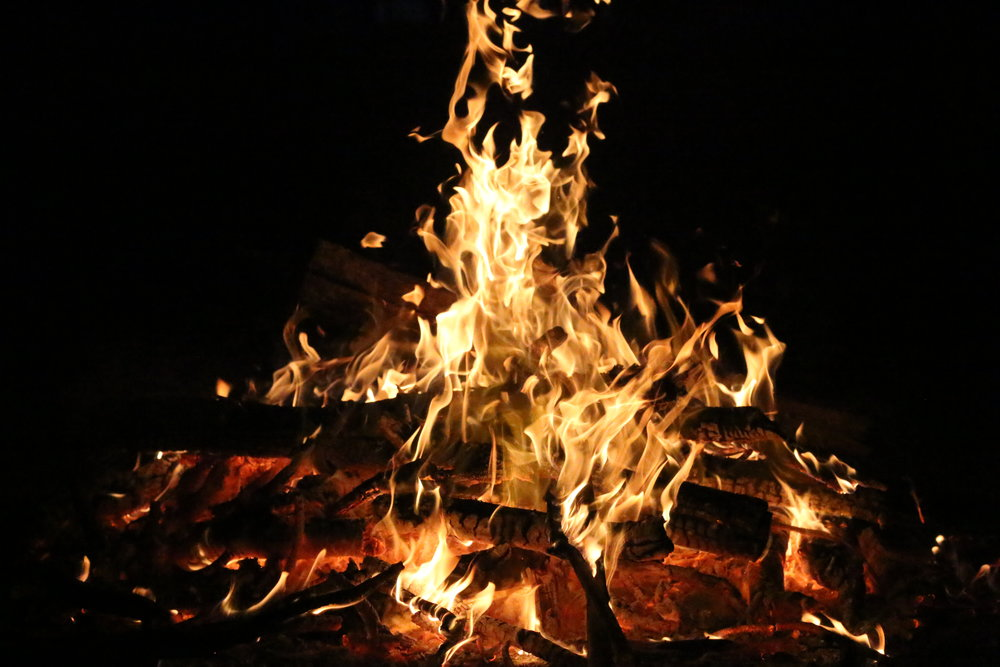 Fire is a sacred element in Andean tradition. You can understand why when you feel the transformational power of trusting a paper with something you want to release, to the fire and watching it go up in smoke.