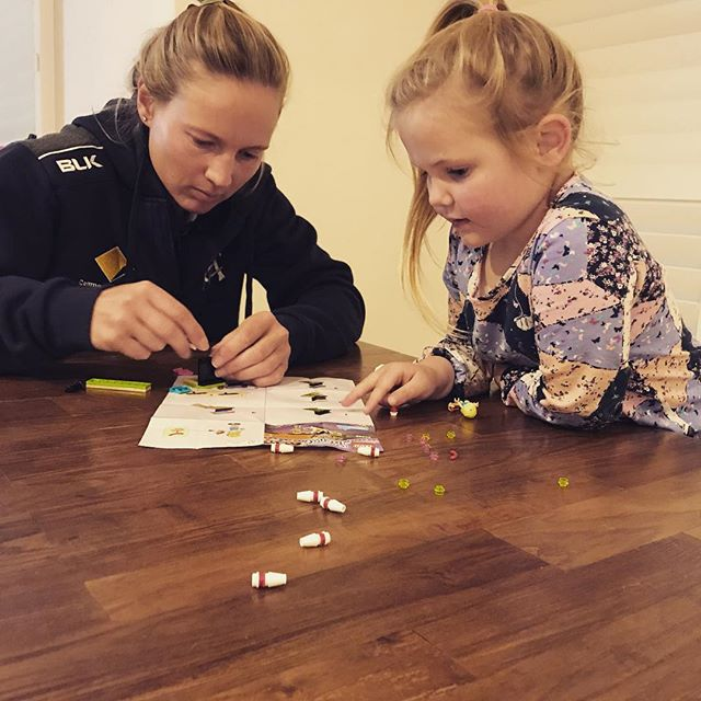 It took all of Harper and my concentration but LEGO friends are heaps of fun to put together ! The LEGO Friends zone is one of many things on offer on Saturday night. Get down to North Sydney Oval for the first game of the summer ! #WATCHME