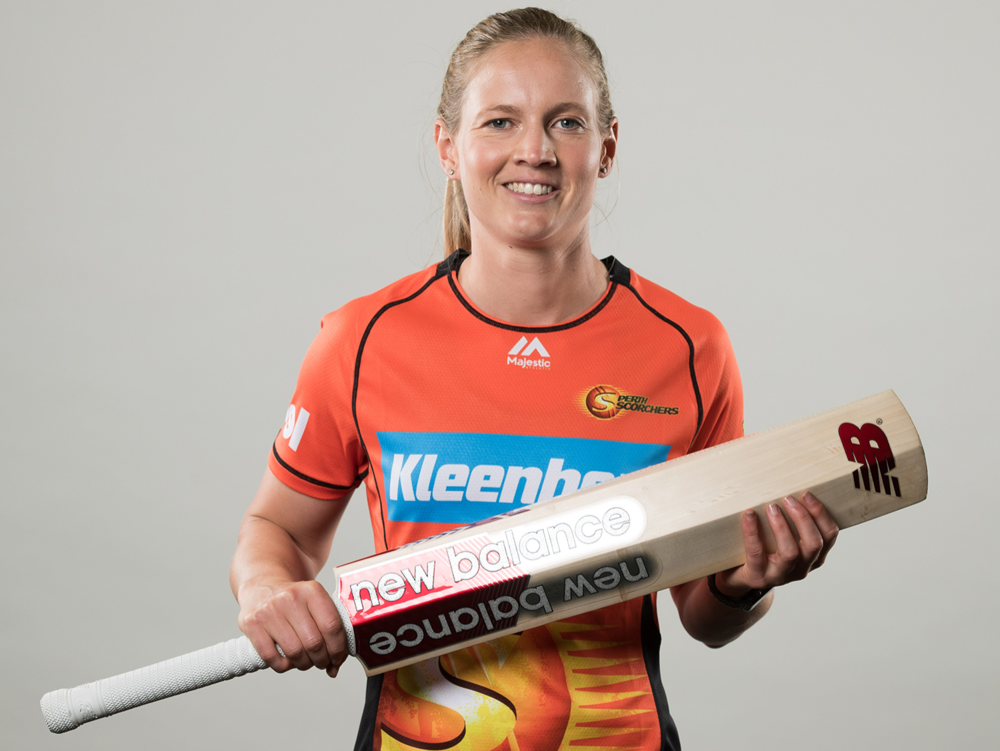 Meg Lanning; Australian women's cricket team captain and Perth Scorchers player in the WBBL