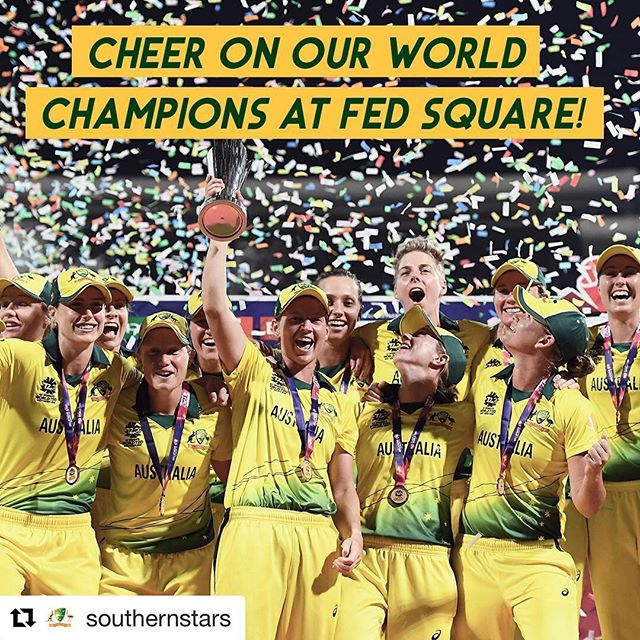 12pm tomorrow at Fed Square, see you there ! 🏆