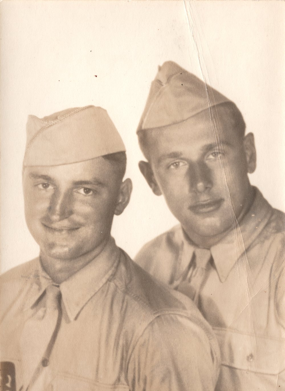Daddy on right, in army.jpg