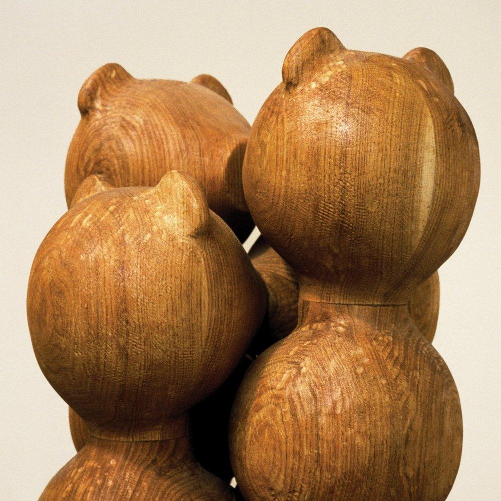 Composition à 8 baisers  |Linden/Oak/Walnut/170x130x40cm