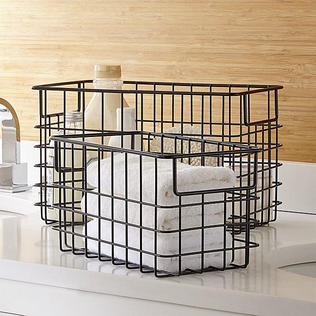 black wire baskets