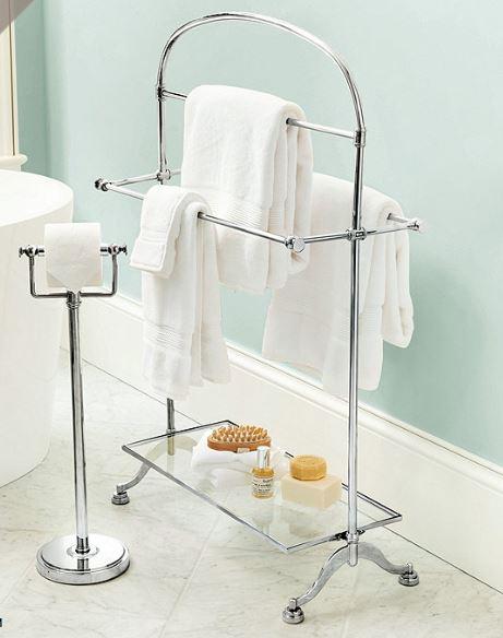 Amelia standing towel rack