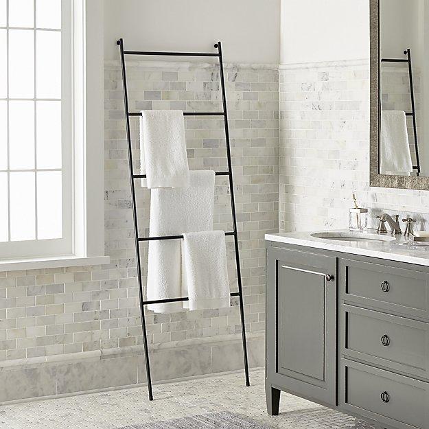 black towel ladder