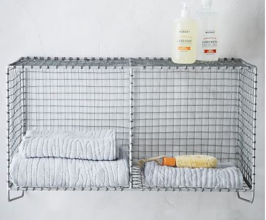 wire mesh hanging storage