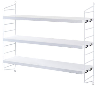 white pocket shelving