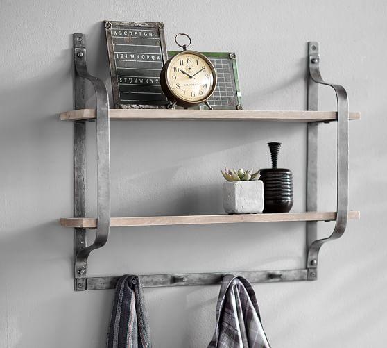 rustic pine shelf