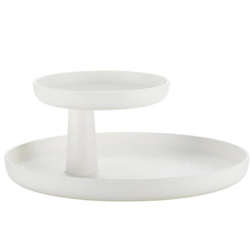 white rotary tray