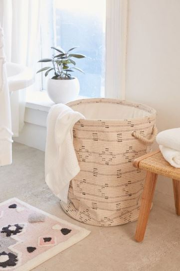 boho canvas laundry basket