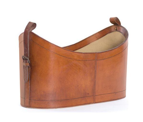 leather magazine holder