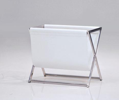 white magazine rack