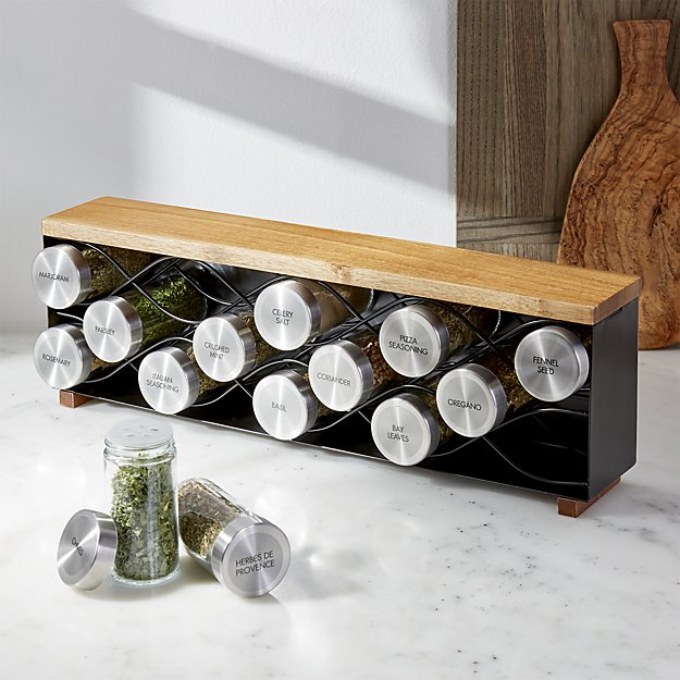 C & B metal spice rack