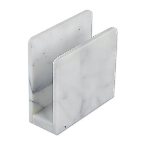 Artisanal white marble holder