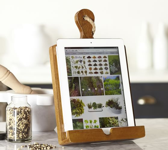 PB tablet recipe holder