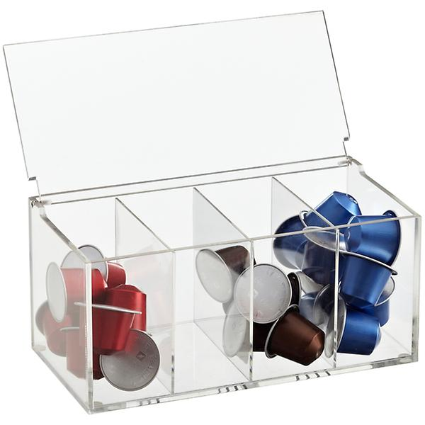 acrylic coffee pod box