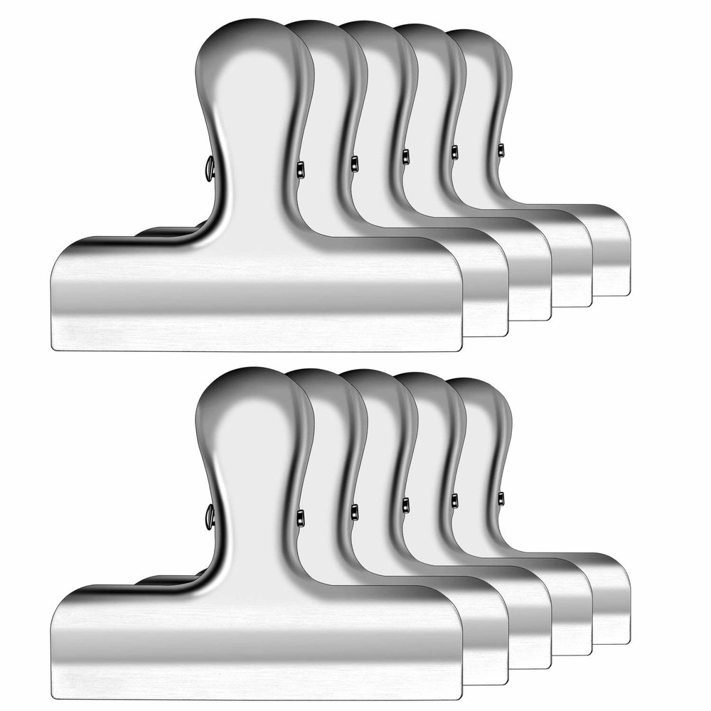 stainless chip bag clips