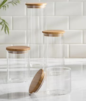 4-piece glass storage