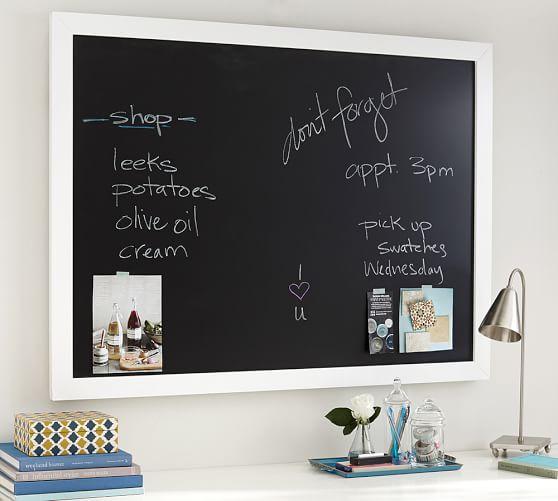 PB framed chalkboard organizer