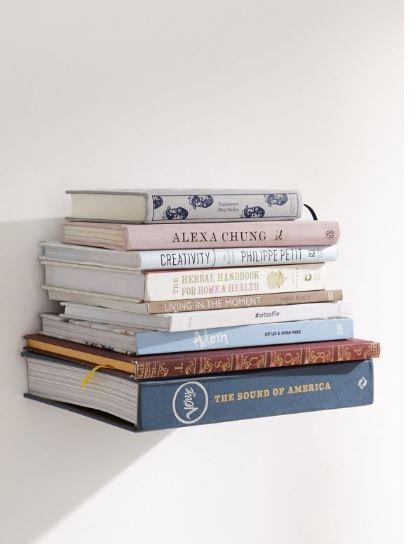 invisible book wall shelf