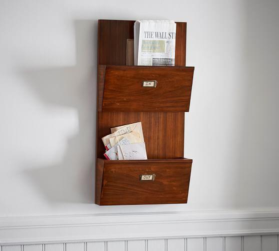 letter file wall bin