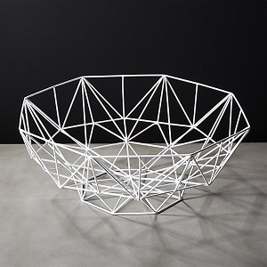 CB2 aldrin white bowl