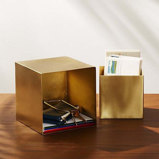 brass storage box set