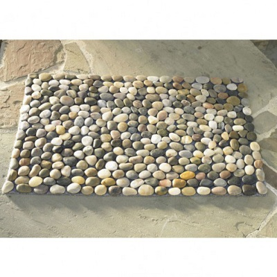river rock floor mat