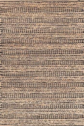 black woven jute rug