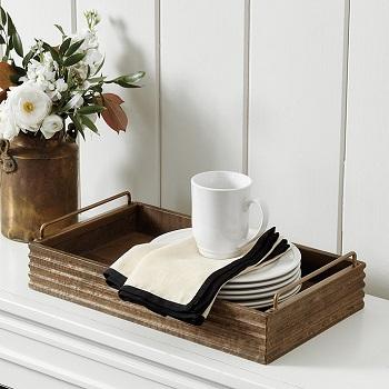 becca rustic wood tray