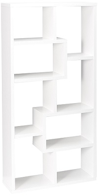 cubed rectangular bookcase