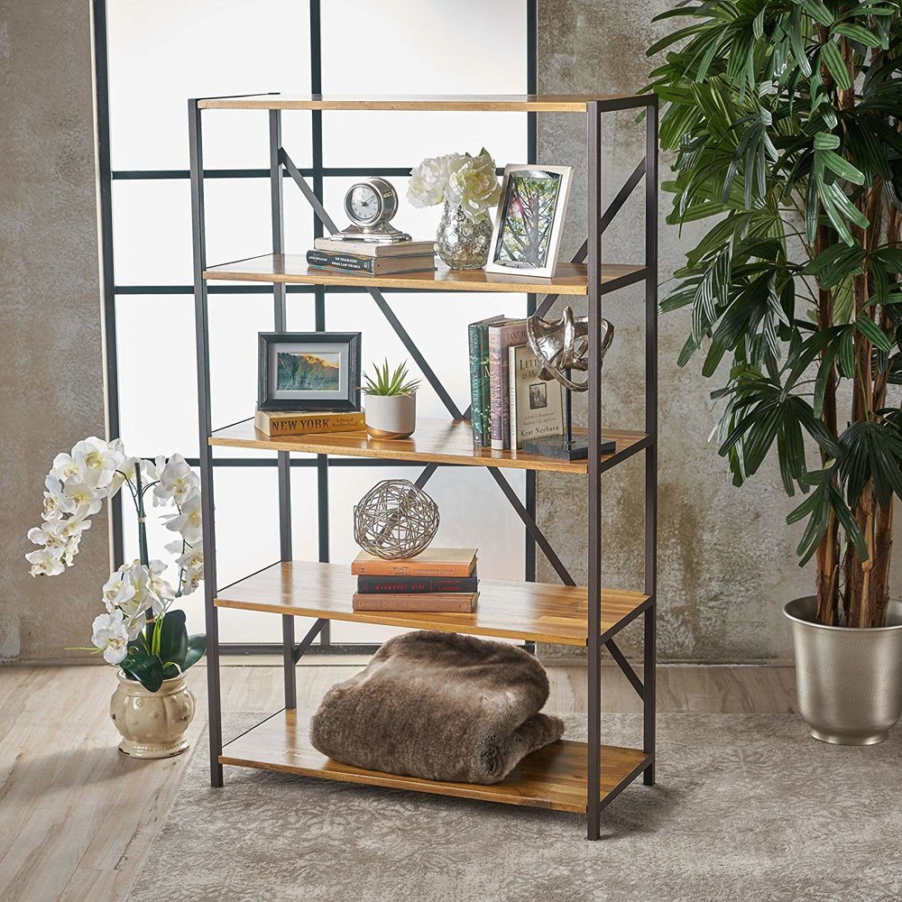 "relee 34"" natural wood shelf"