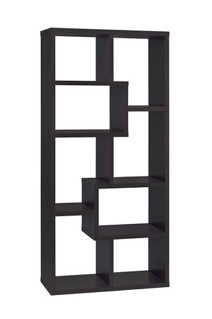 asymmetrical black shelf