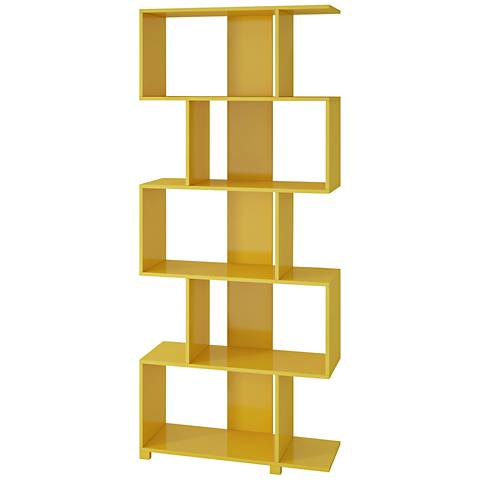 yellow gloss z-shape bookcase