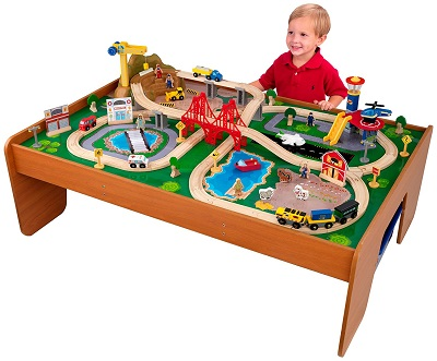 kid craft train set table