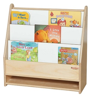 wood toddler bookshelf